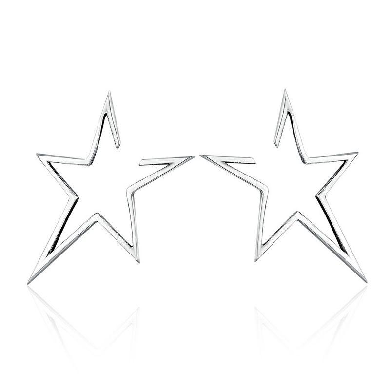 Cercei din Argint Modern Star Light