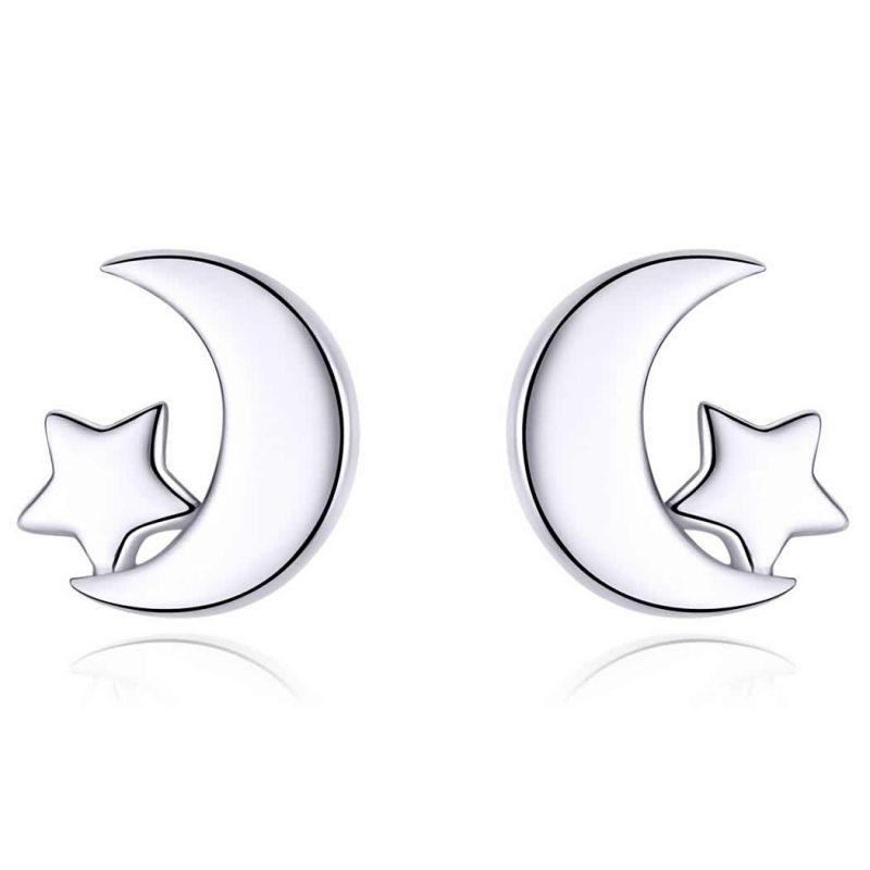 Cercei din Argint Moon &Star