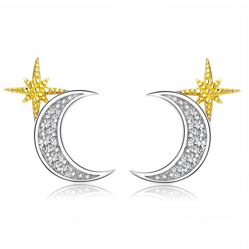 Cercei din Argint Moon