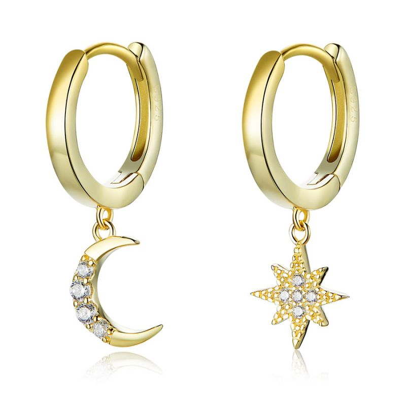Cercei din Argint Star Night Gold