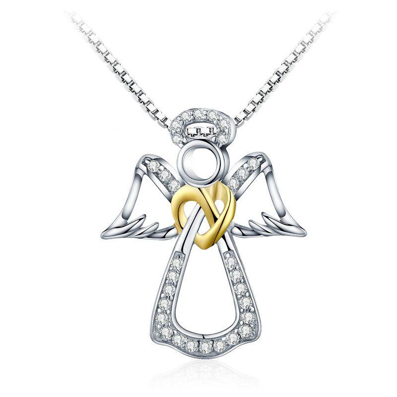 Pandantiv cu Lantisor din Argint Guardian Angel
