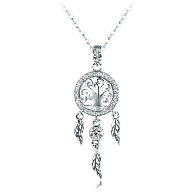 Pandantiv cu Lantisor din Argint Life Tree Dreamcatcher