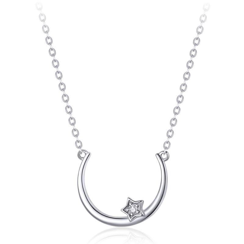 Pandantiv cu Lantisor din Argint Simple Star