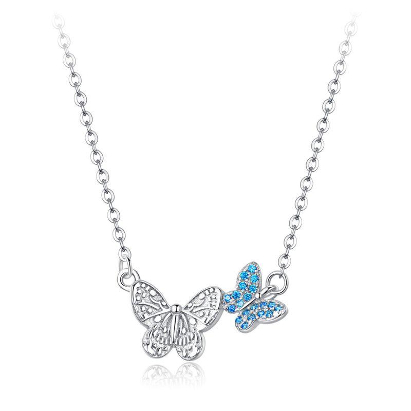 Pandantiv cu Lantisor din Argint Butterfly Necklace